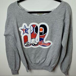 Philadelphia sport teams off shoulder sweatshirt L